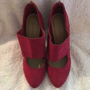 Bonnibel Red suede shoes